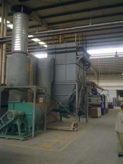 朗萨家私5000万方生产能力木粉除尘项目(一线部分)