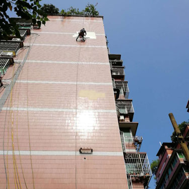 重庆王家坝社区外墙维修施工