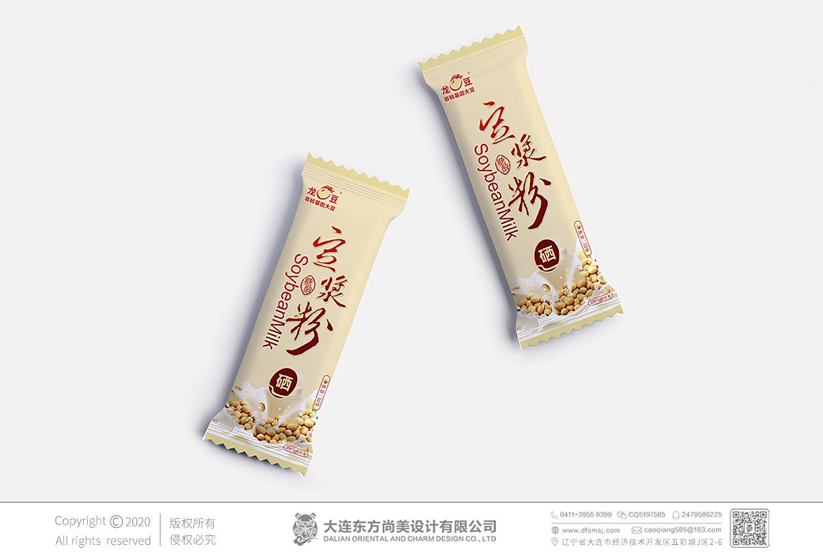 | 黃豆豆漿粉_包裝設計_方案一_小袋設計 |
