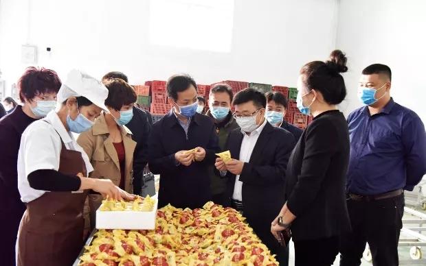 北海市委副书记、组织部部长李伦兵到广西合天宝龙食品有限公司调研