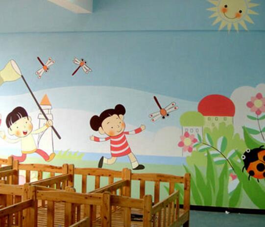 菏泽幼儿园喷绘:争做幼儿园墙绘领导者图片