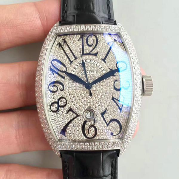 FM法兰克穆勒 CASABLANCA系列8880白金 满钻手表