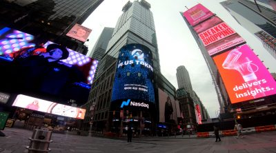 PlusToken智能钱包登陆时代广场纳斯达克巨屏, 亮相世界舞台!