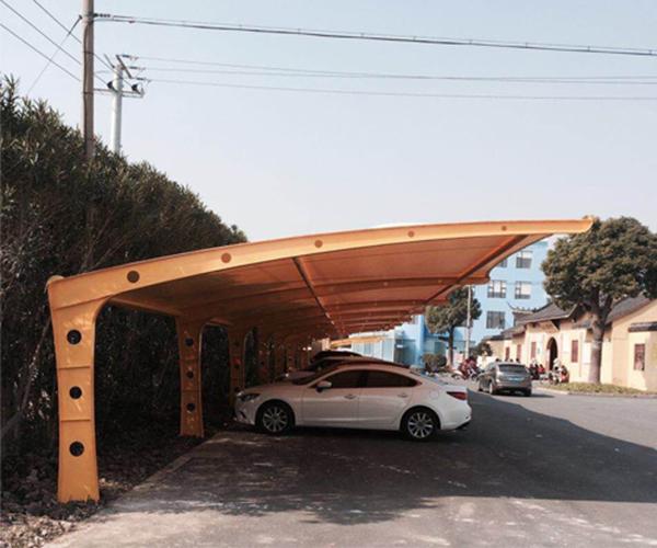膜结构汽车棚工程案例