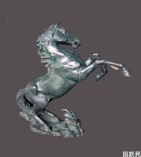 雕塑-马-0272010年德国巴斯夫集团副总裁收藏的田跃民马雕塑