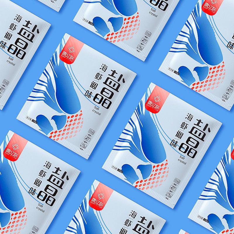 调味盐晶包装袋设计_盐晶包装设计_海虾盐晶包装_盐包装设计