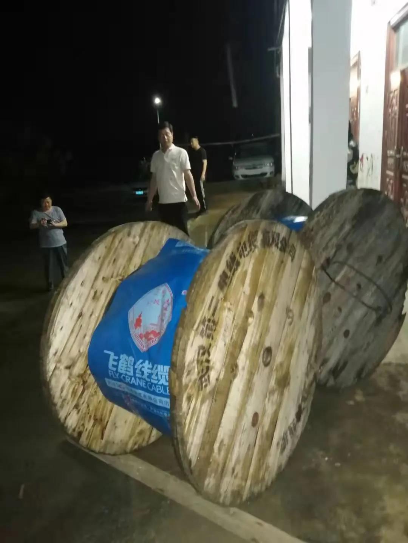 3小时支援2400米乐动体育投注网 武汉二线捐赠乐动体育投注网保结对扶贫村用电